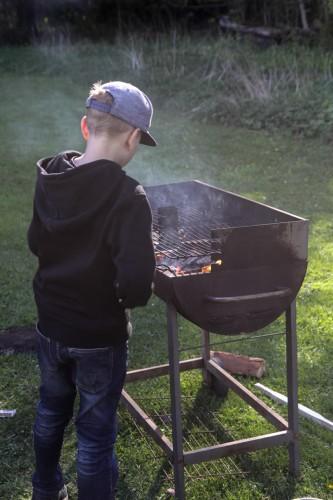 Första dagen kunde vi laga mat över öppen eld men dagen efter blev det tyvärr eldningsförbud i länet.
